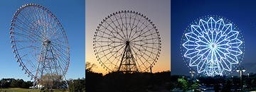 Kasai Rinkai Park: Diamond and Flower Ferris Wheel