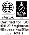 Certified for ISO9001:2008 registration 6 Divisions of Head Office 242 Hotels