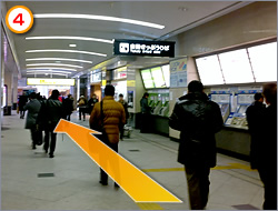 Go pass Sakurabashi Ticket Gate.